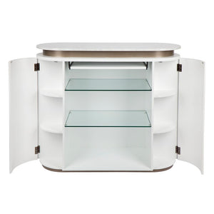 Calile Bar Counter Table - White - Notbrand
