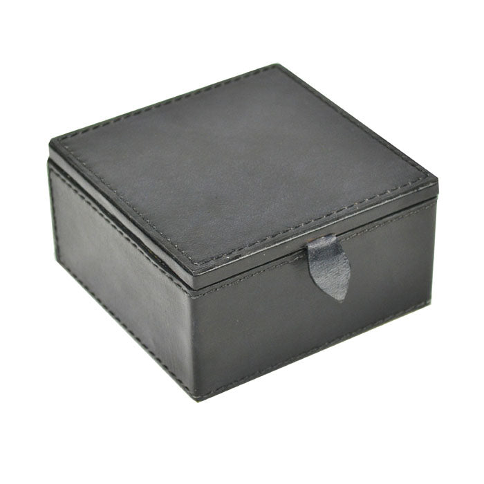 Bvlgari Black Leather Travel Jewellery Box - Notbrand