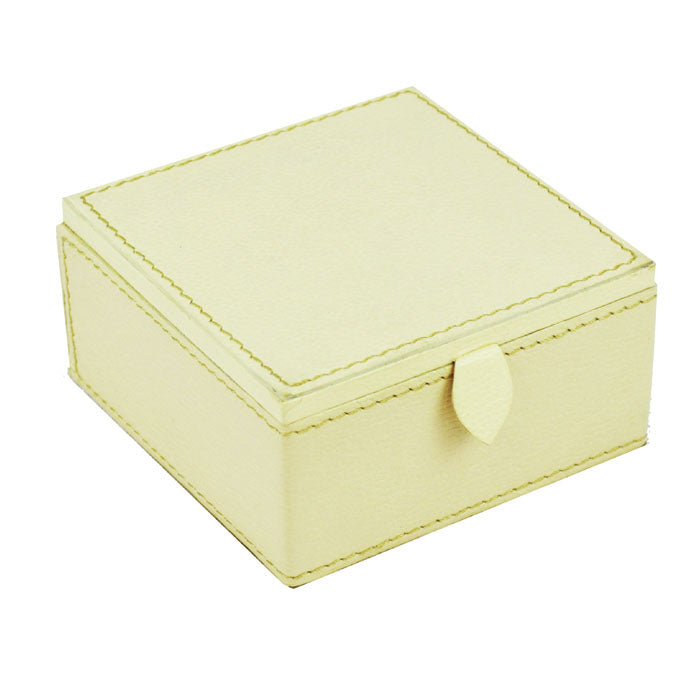 Bvlgari Off White Leather Travel Jewellery Box - Notbrand
