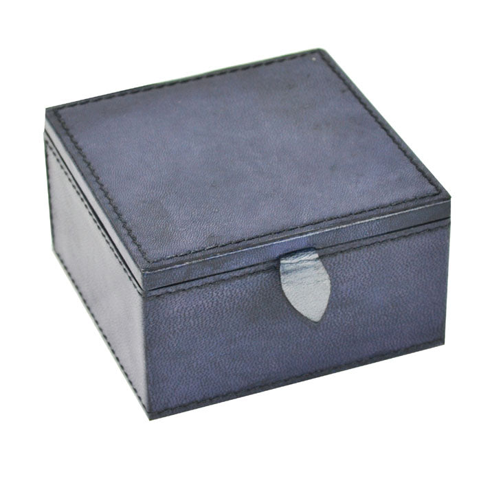 Bvlgari Blue Leather Travel Jewellery Box - Notbrand