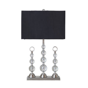Trio Crystal Table Lamp with Black Shade - Notbrand