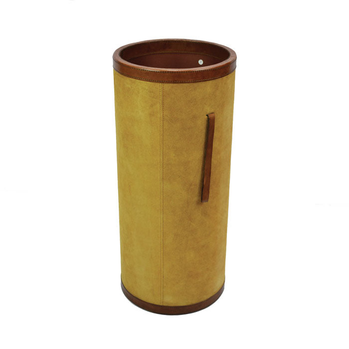 Suede Tan Leather Umbrella Holder / Stand