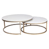 Chloe Coffee Table - Gold 2pc - Notbrand