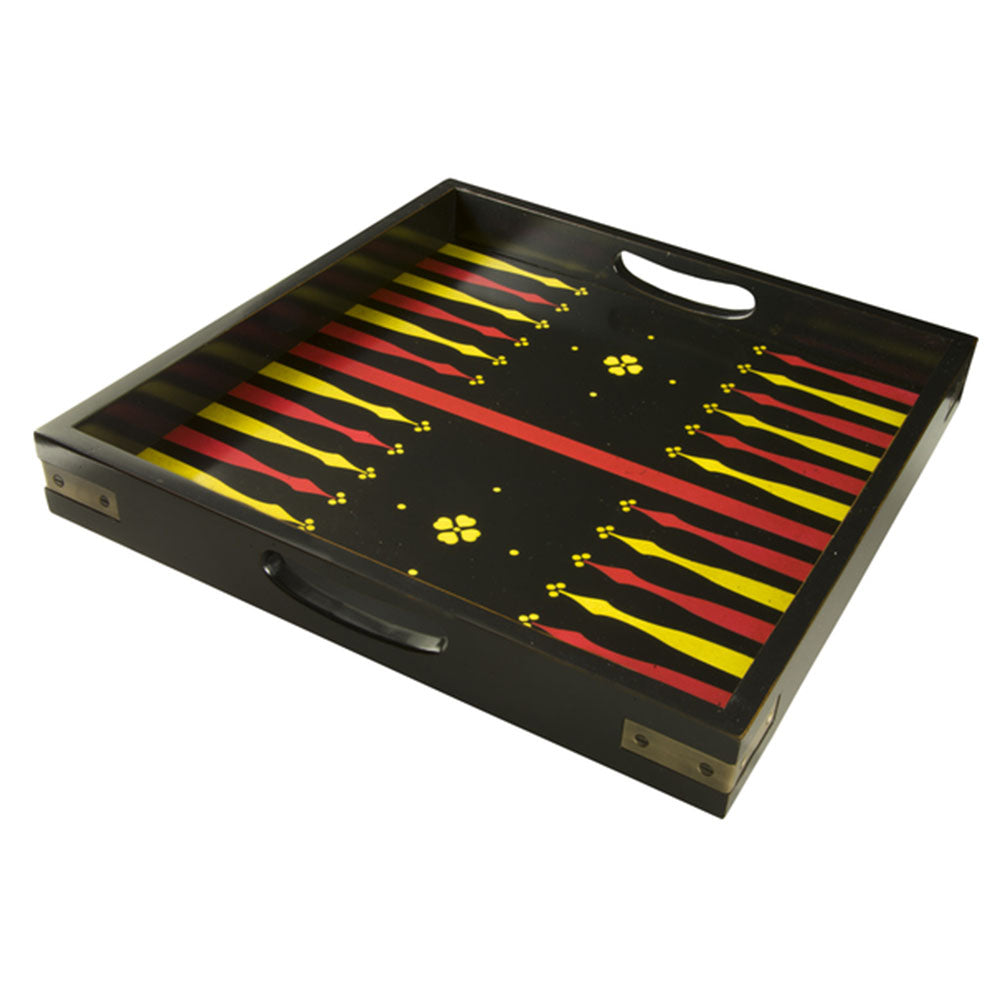 Backgammon Solid Wood Serving Tray - Notbrand