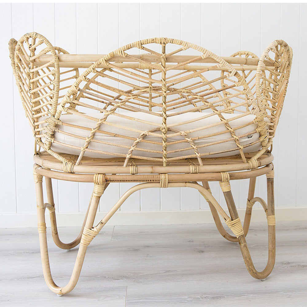 Willow Rattan Baby Bassinet – Natural - Notbrand