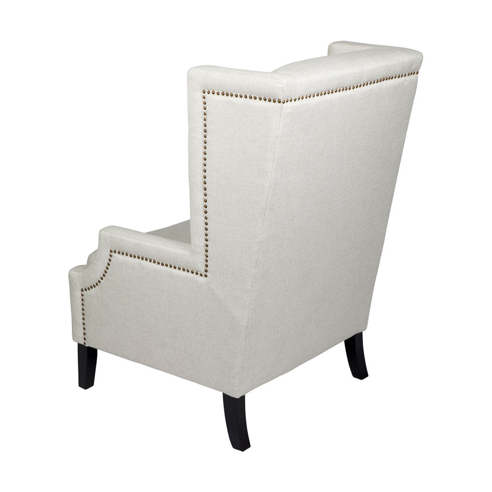 Emperor Natural Linen Wing Back Occasional Chair - Notbrand