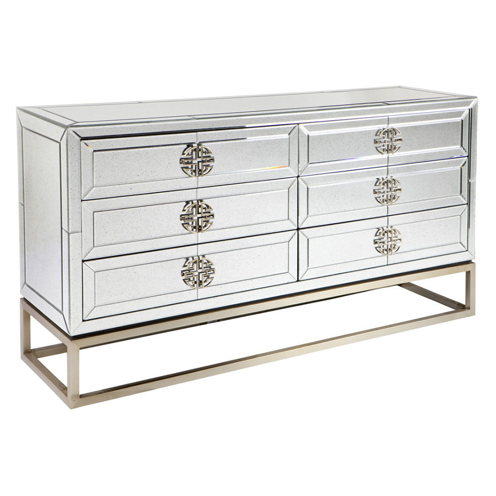 Rochester Chest 6 Drawer Mirrored - Notbrand