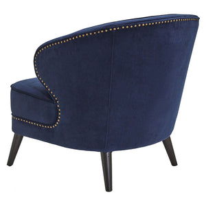 Hallie Studded Occasional Chair - Navy - Notbrand