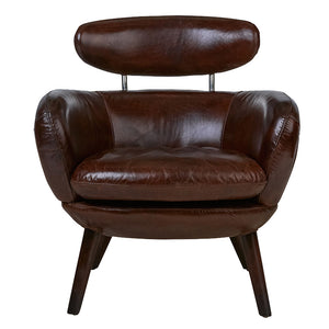 Britain Stylist Chair in Cigar Aged Leather - Notbrand