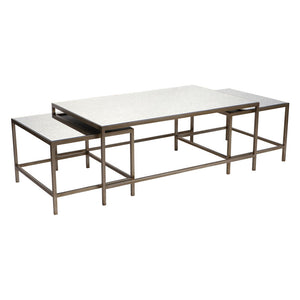 Cocktail Coffee Table - Antique Gold 3pc - Notbrand