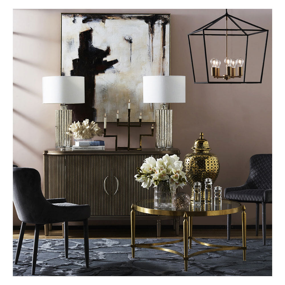 Arielle 2 Door Timber Buffet - Antique Gold - Notbrand