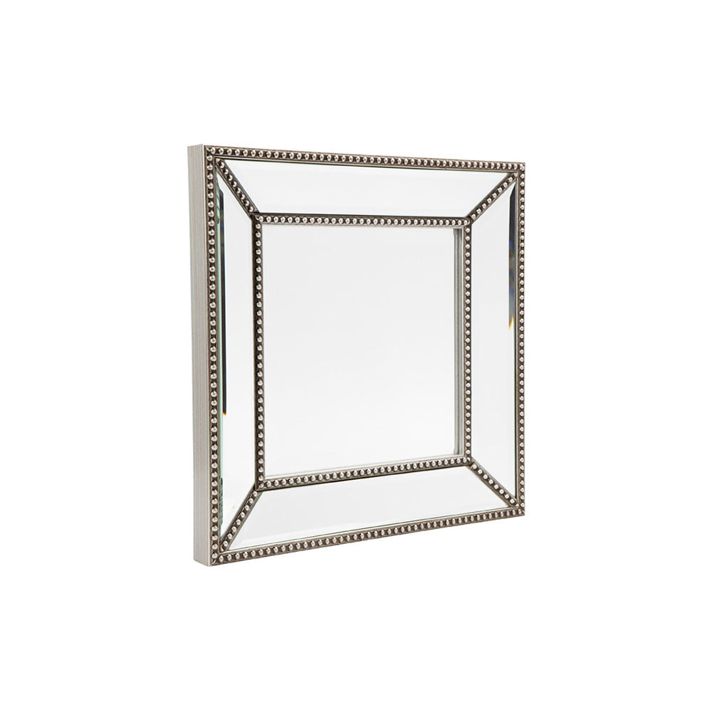 Zeta Wall Mirror - Small Antique Silver - Notbrand