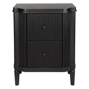 Arielle Bedside Table - Black - Notbrand
