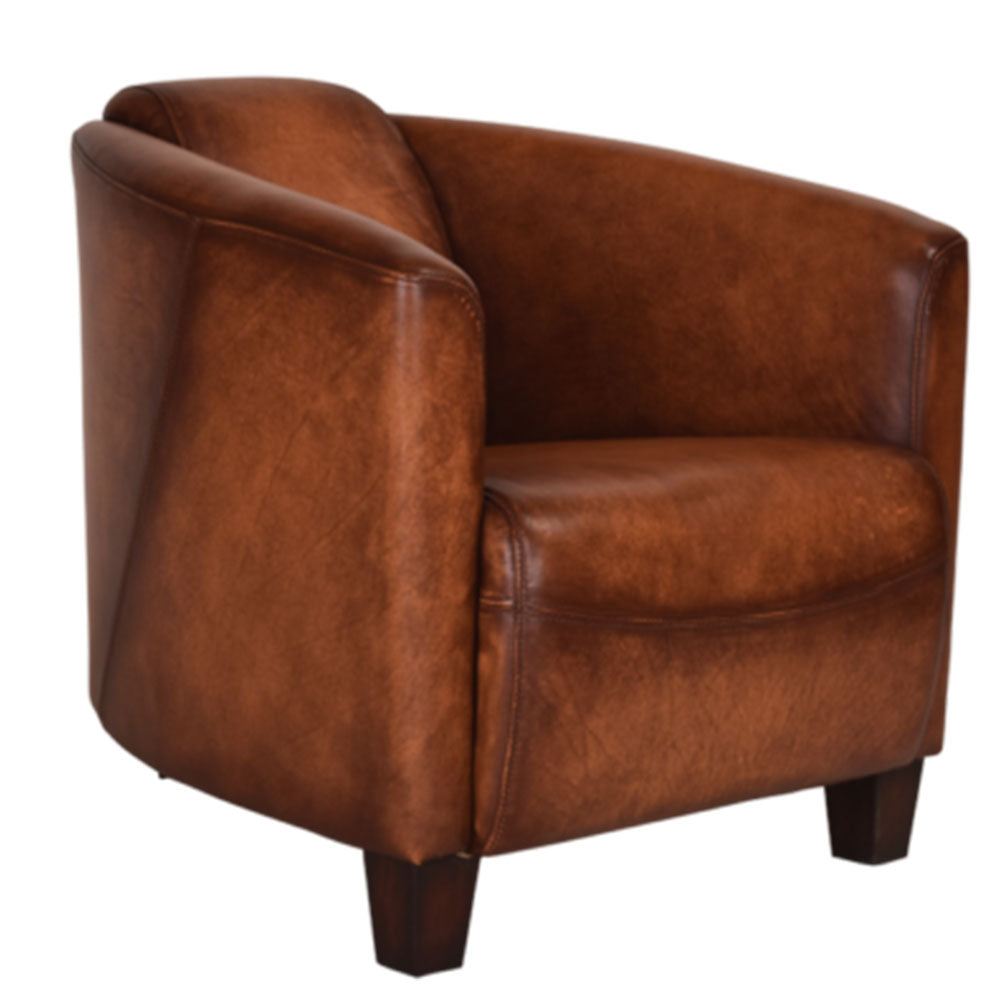 Vanguard Carter Leather Armchair - Notbrand