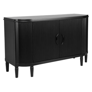 Arielle 2 Door Timber Buffet - Black - Notbrand