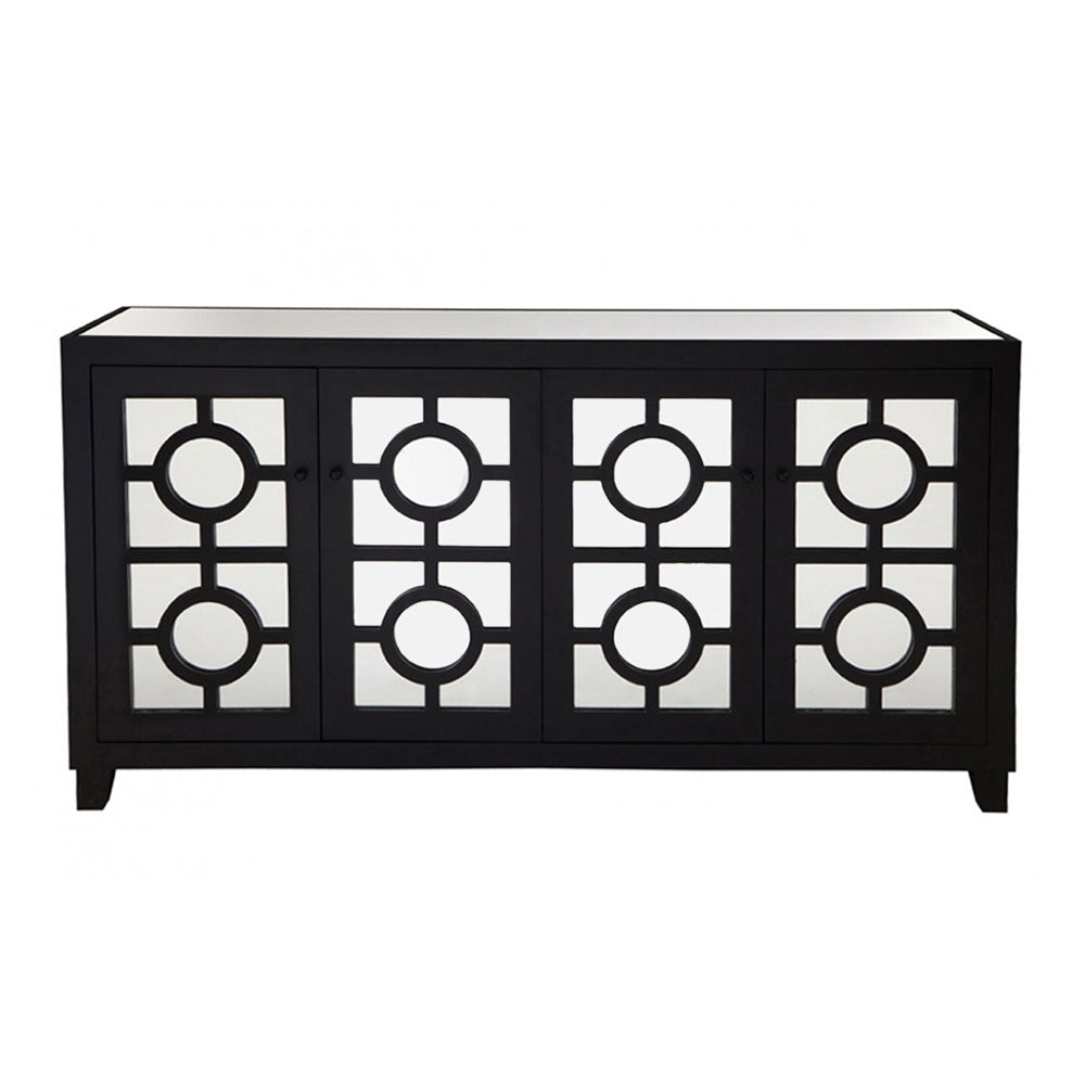 Stockton 4 Door Wooden Buffet - Black - Notbrand