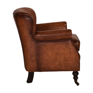 Clinton Chesterfield Armchair Original Leather - Notbrand