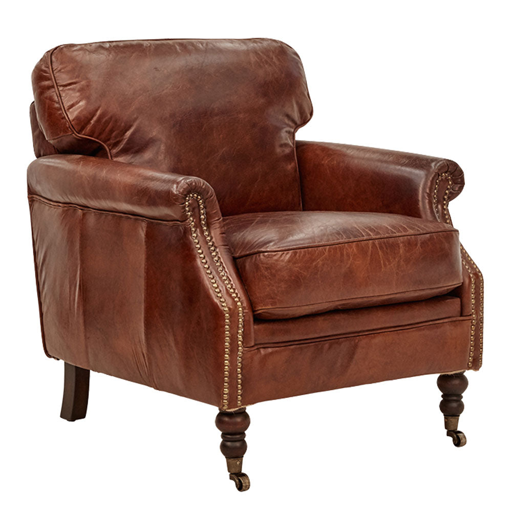 Winchester 45 Armchair in Aged Leather - Notbrand