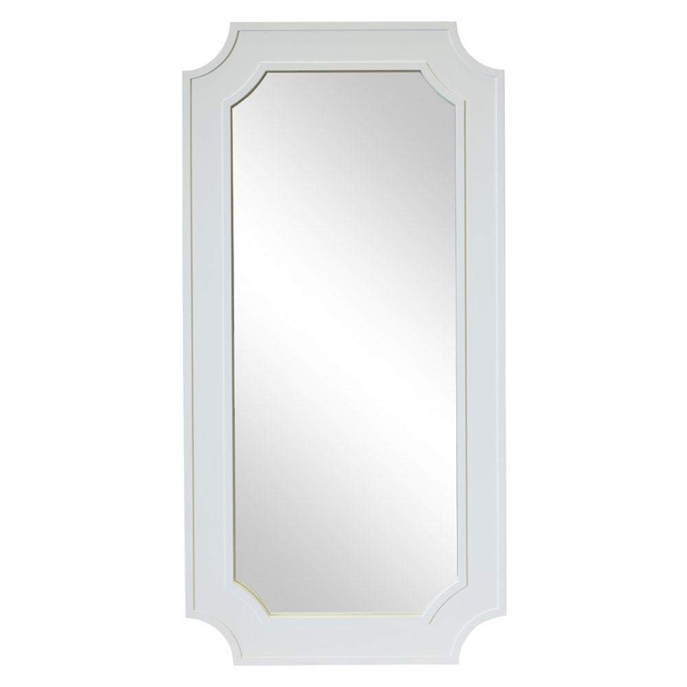 Bungalow White Floor Mirror - Notbrand