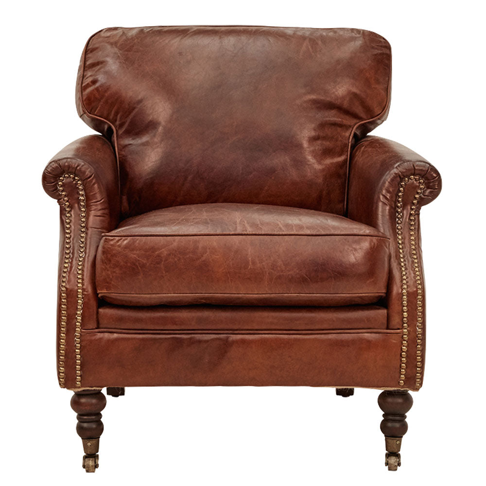 Maverick Chesterfield Armchair Aged Leather - Notbrand