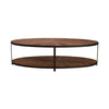 Trenton Oval Coffee Table Reclaimed Oak - Notbrand