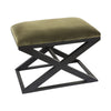 Spencer Stool - Moss with Black Frame - Notbrand