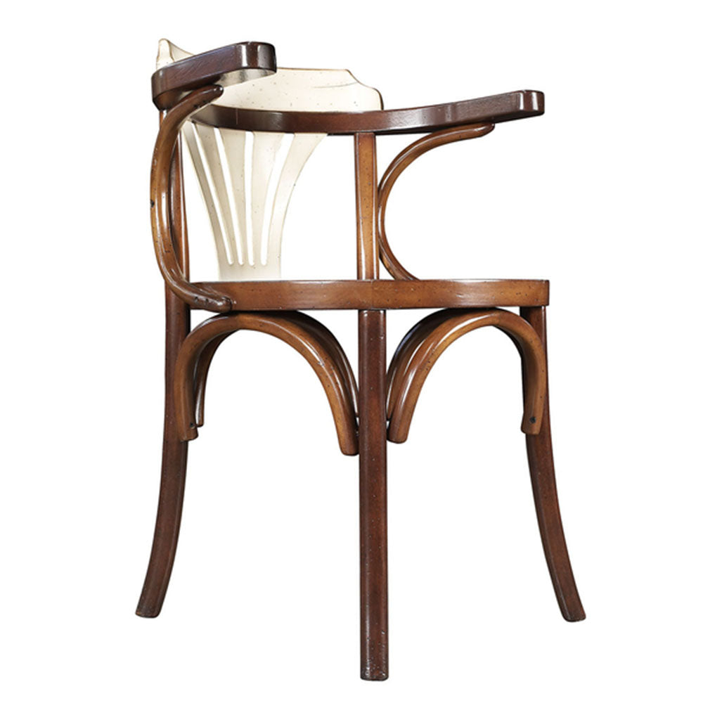 Navy Chair Solid Wood Honey / Ivory - Notbrand