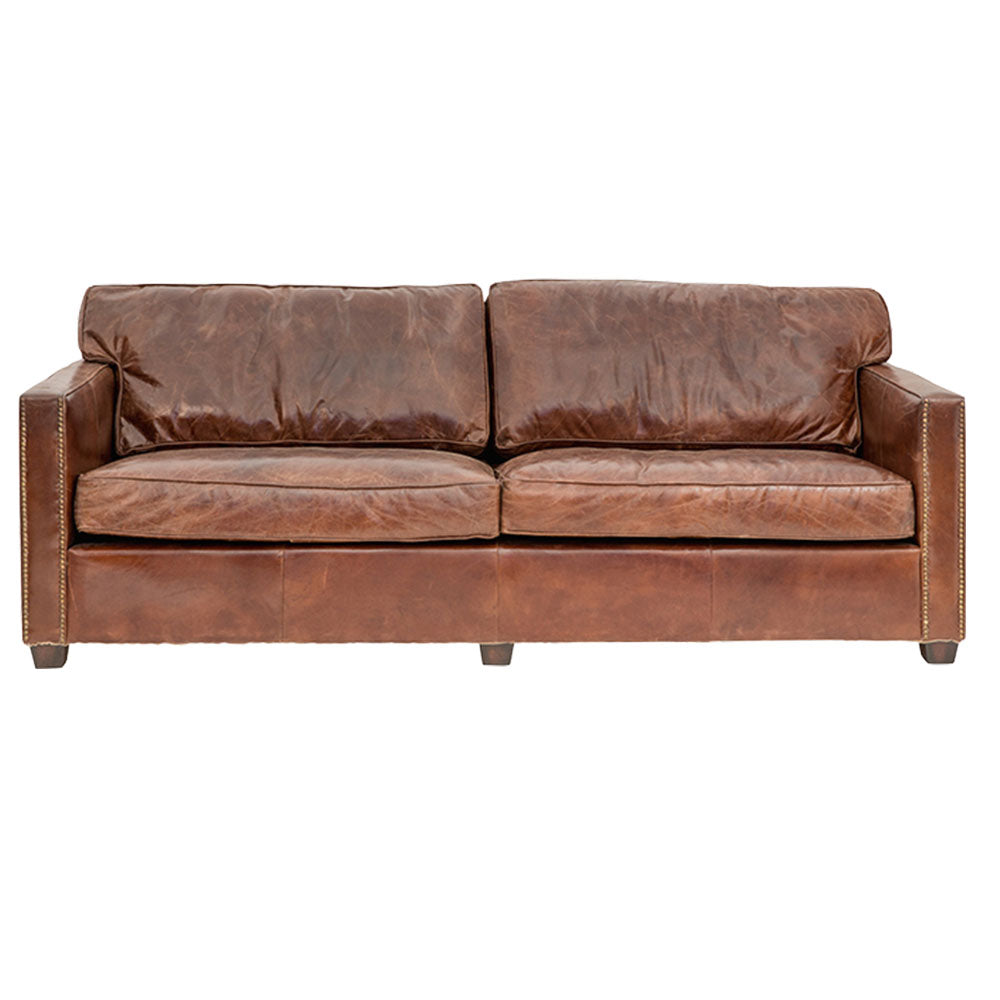 Mackenzie 3 Seater Sofa Aged Leather - Notbrand