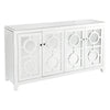 Stockton 4 Door Wooden Buffet - White - Notbrand