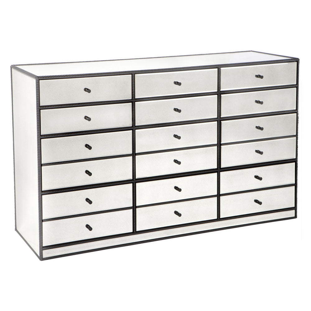 Brentwood Multi Drawer Mirrored Chest - Notbrand