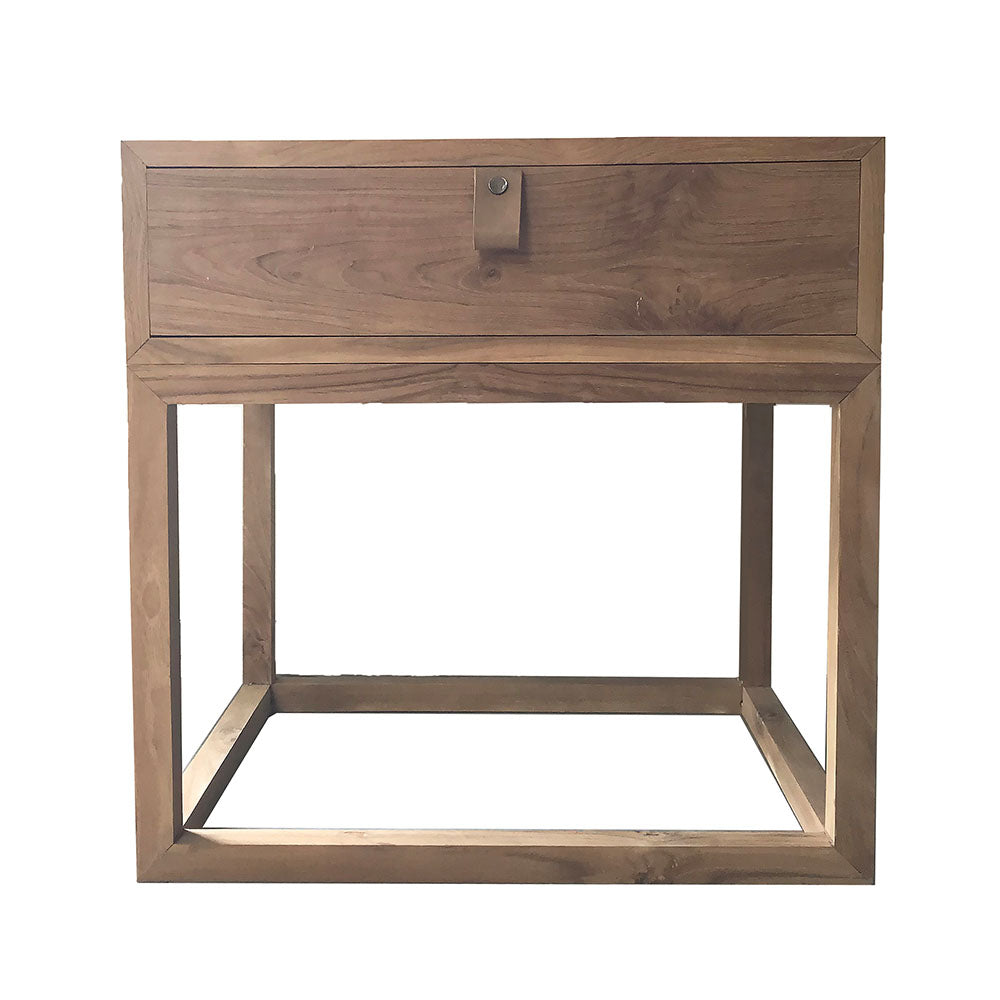 Gus Teak Bedside Table Natural - Notbrand