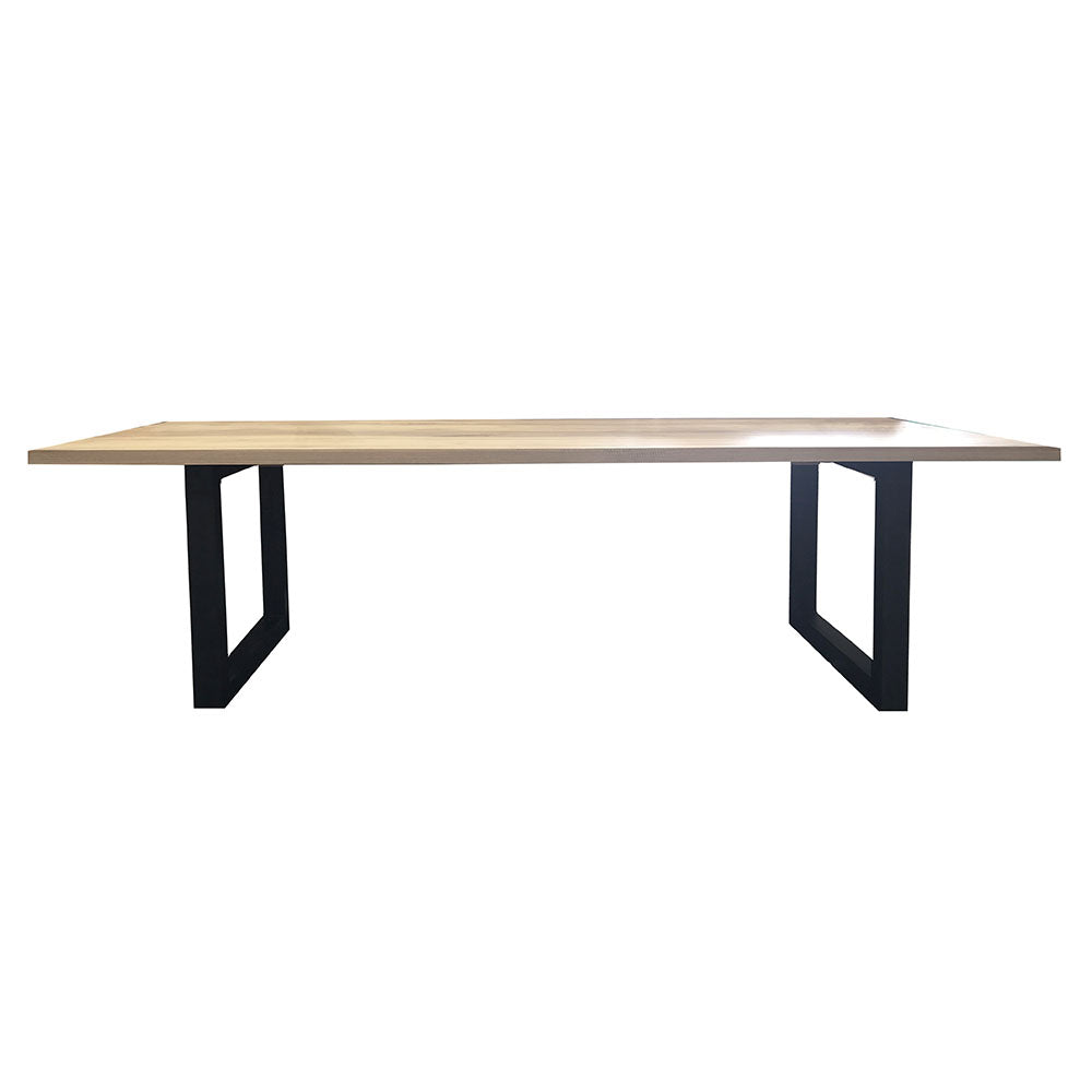 Terence Rectangle Dining Table Black Legs - Notbrand