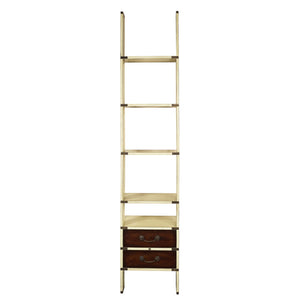 Library Ladder Shelf with Drawers Ivory - Notbrand