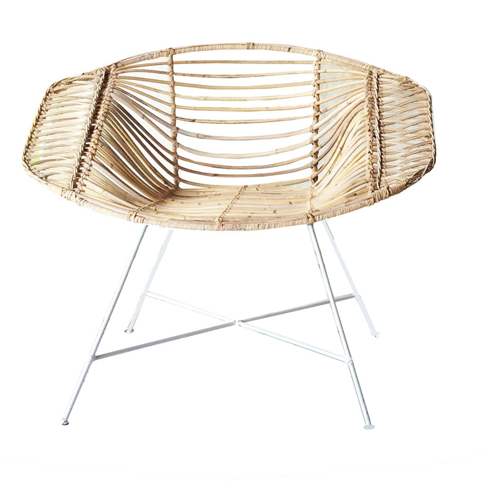 Vox Rattn Chair White / Natural - Notbrand