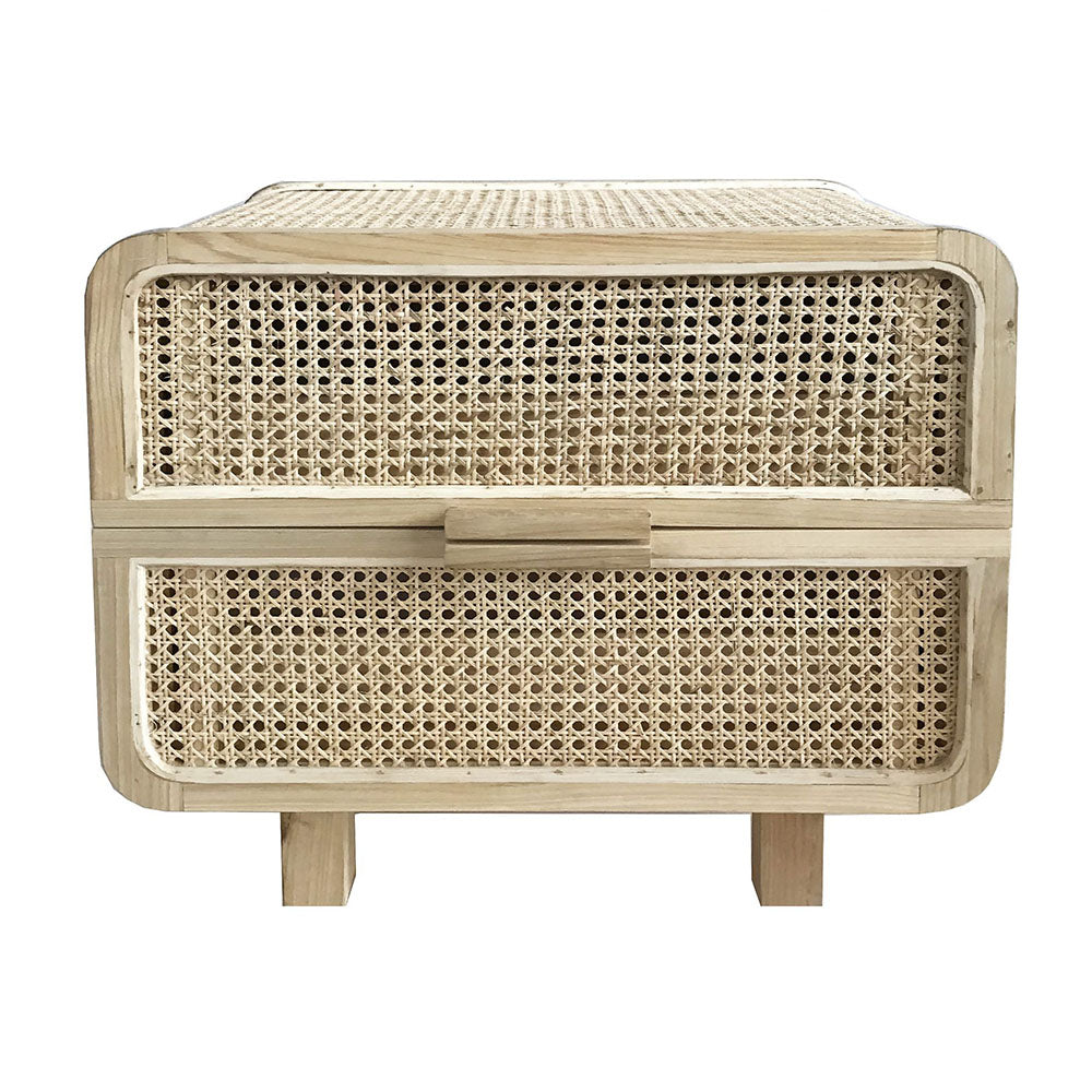 Hayme Rattan Bedside Table - Notbrand