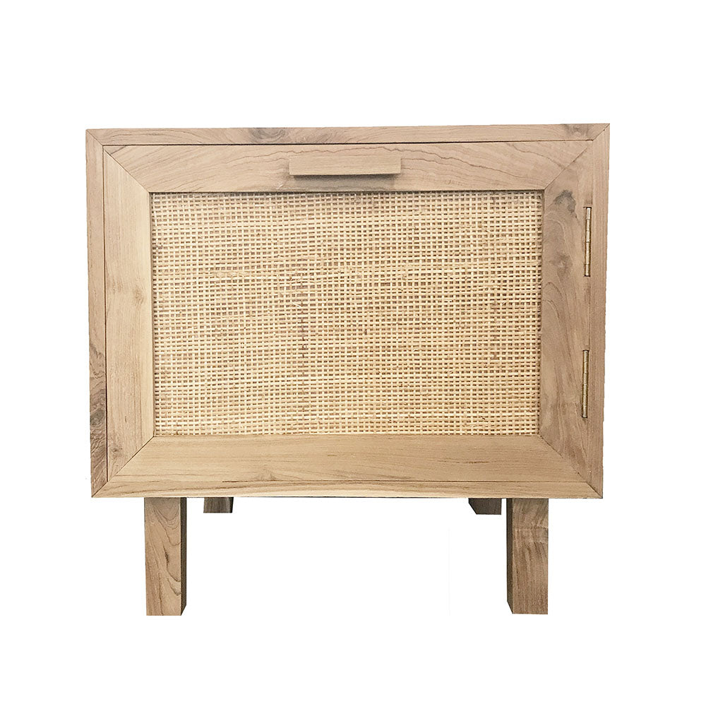 Felix Teak Bedside Table Natural - Notbrand