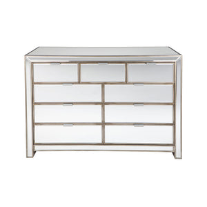 Sabrina Chest 9 Drawer Mirrored - Notbrand