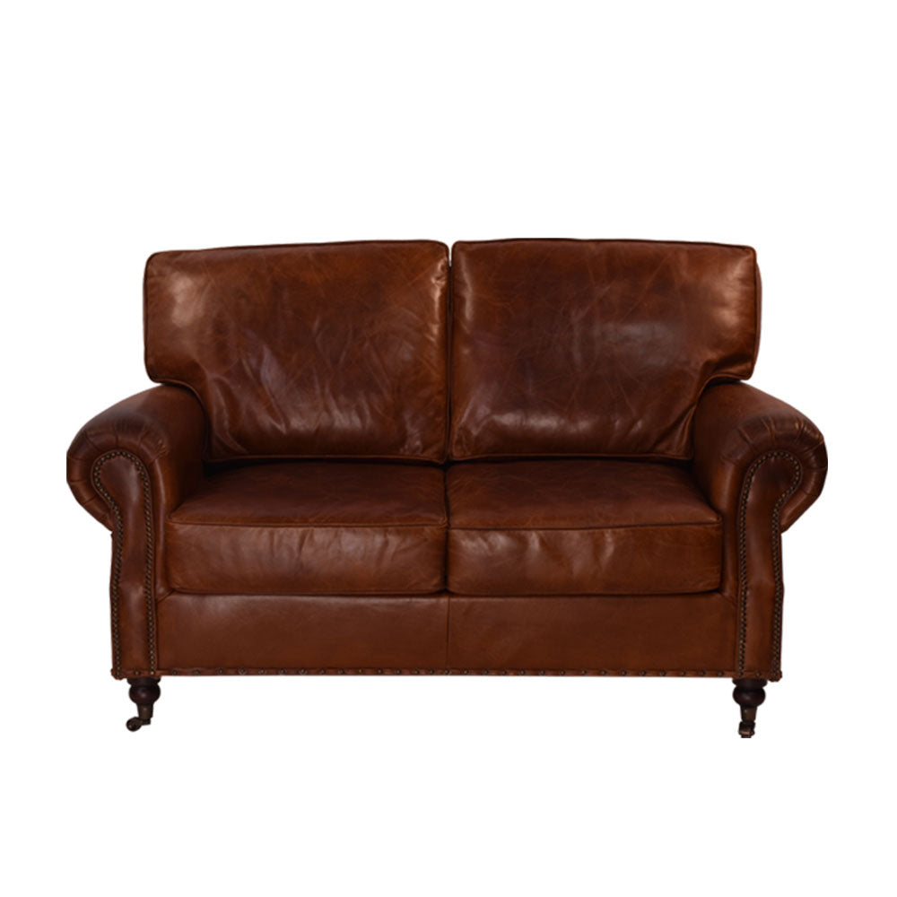 Kensington 2 Seater Sofa in Aged Leather - Notbrand