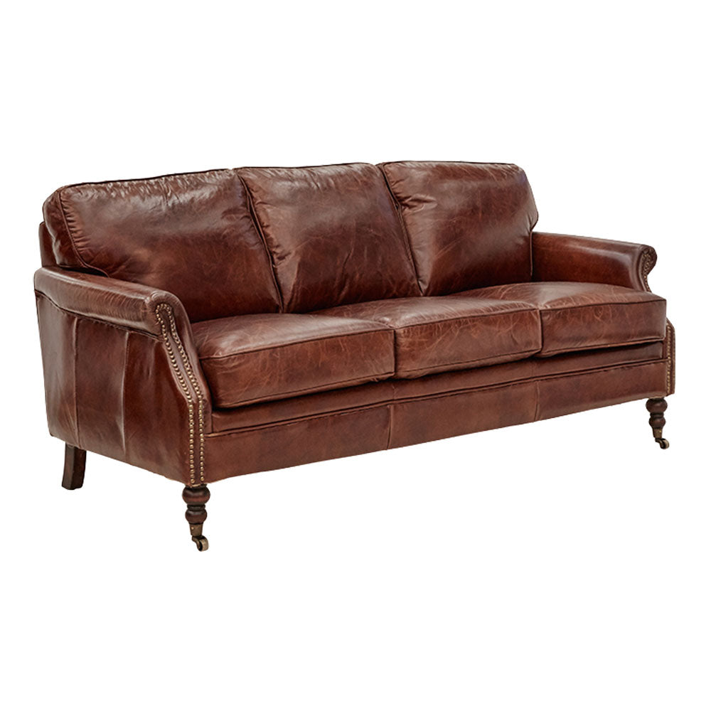Winchester 3 Seater Sofa in Aged Leather - Notbrand