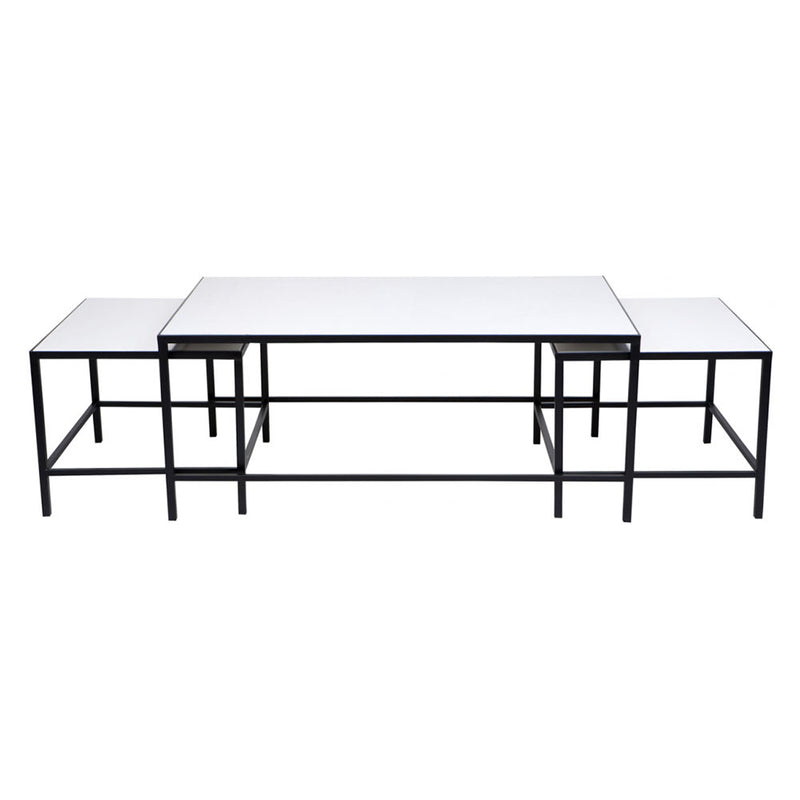 Cocktail Nested Coffee Table - White 3pc - Notbrand