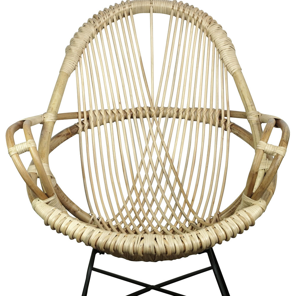 Sibylla Rattan Chair Natural - Notbrand