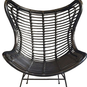 Lani Rattan Chair Black - Notbrand