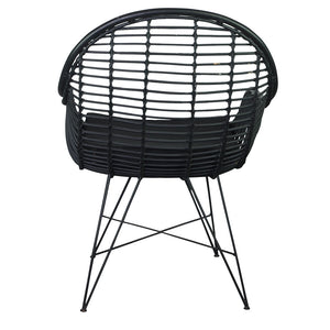 Helmi Chair Black Rattan - Notbrand