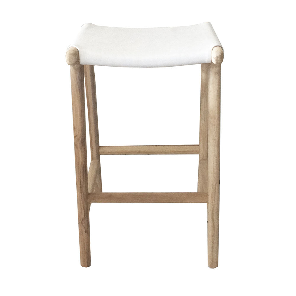 Marvin Bar Stool White Leather - Notbrand