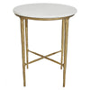 Heston Side Table - Brass - Notbrand