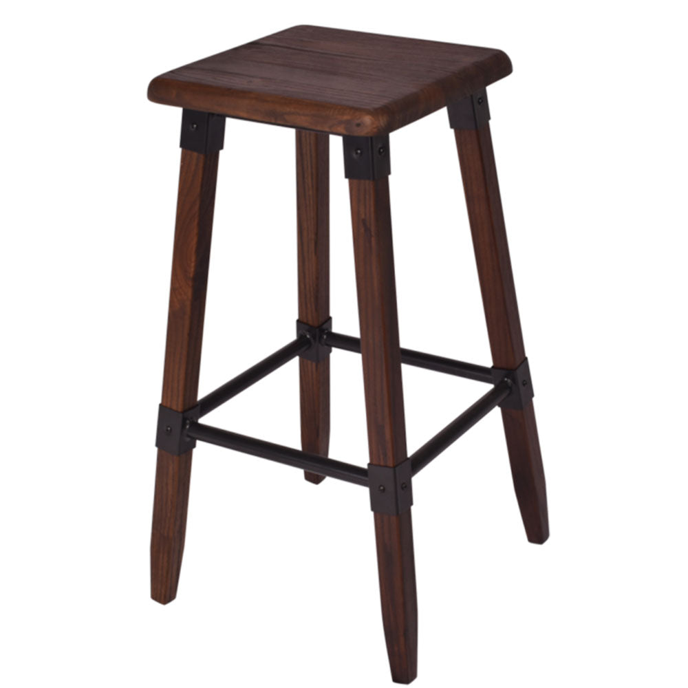 Carre Elm Stool in Walnut - Notbrand