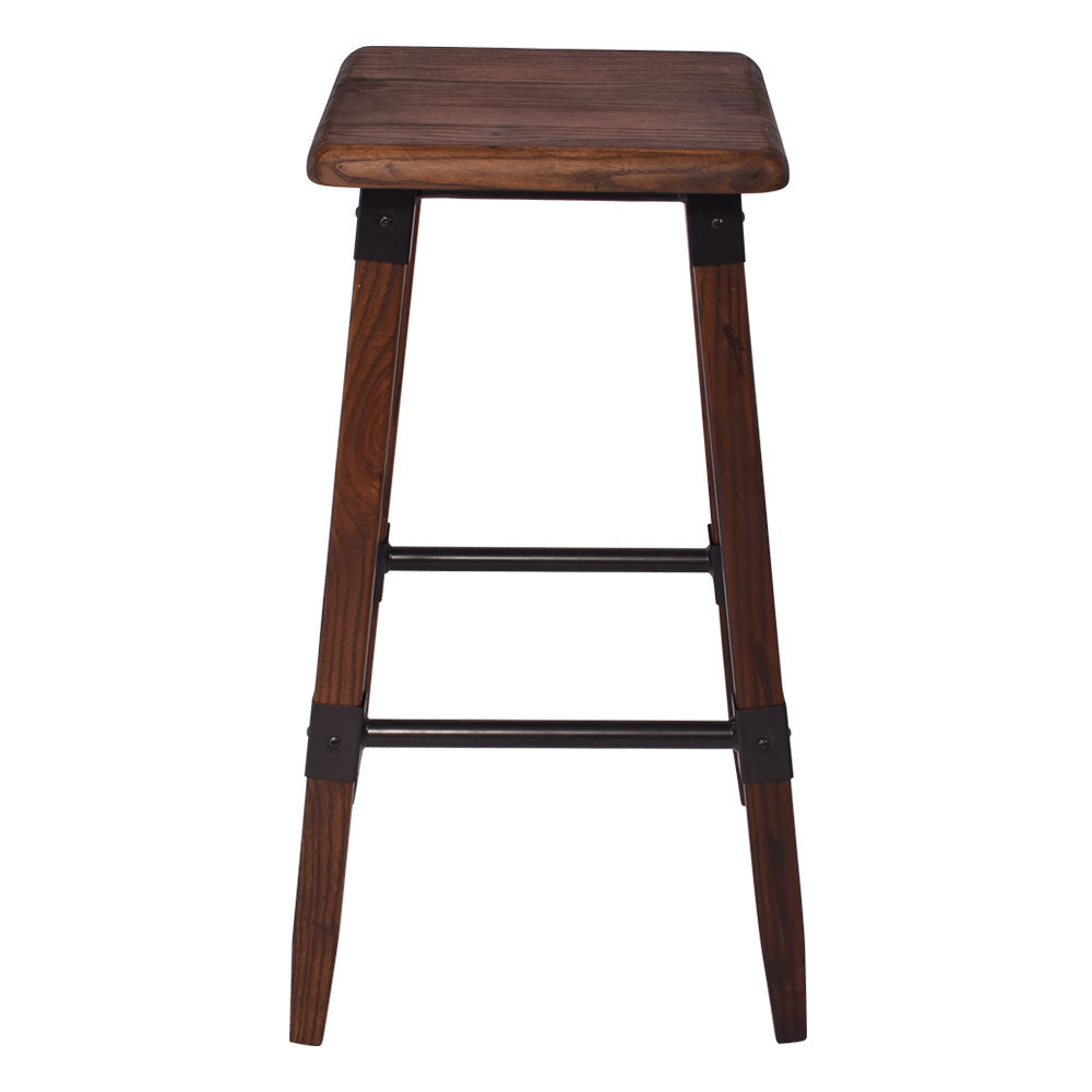 Selena Elm Stool in Walnut - Notbrand