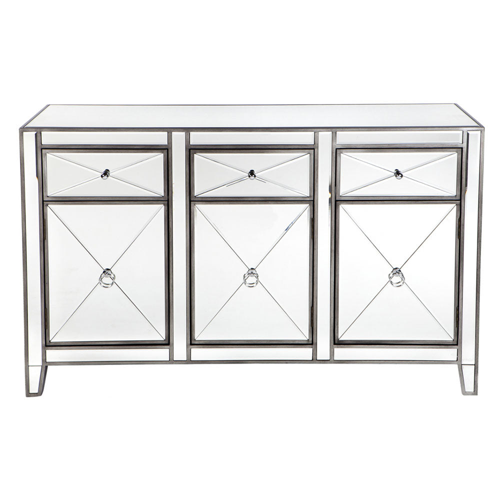 Apolo Mirrored Buffet - Antique Silver - Notbrand