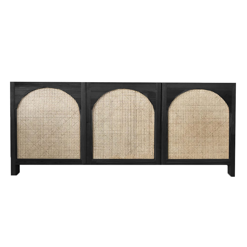 Archer Rattan Buffet Black - Notbrand