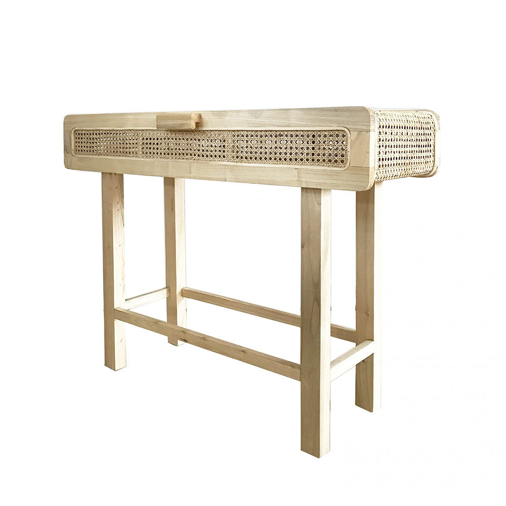 Hayme Rattan Console Table - Notbrand